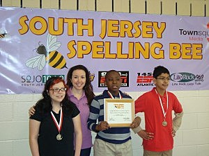 Heather DeLuca with top three spellers!