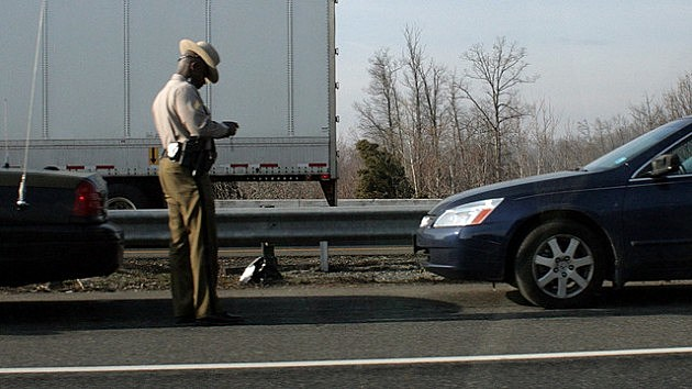 State Trooper writing a ticket