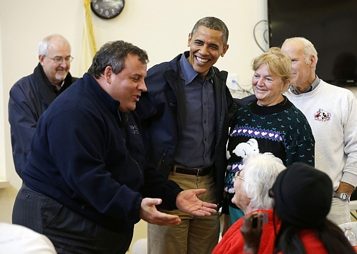 christie with the prez