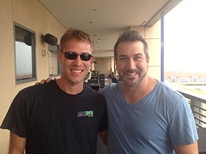 Tom Morgan and Joey Fatone
