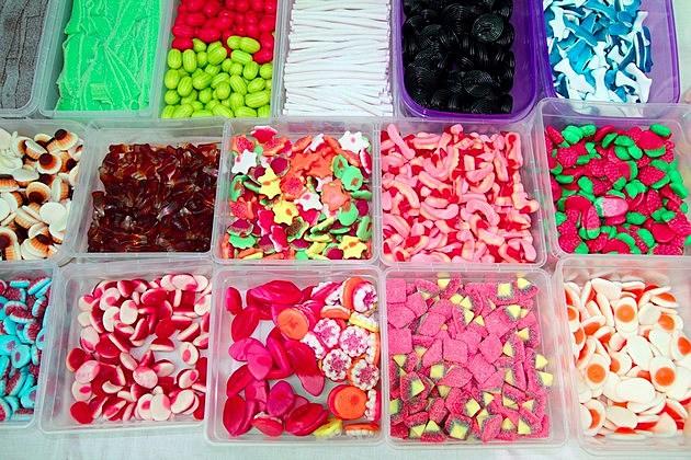 sweet candy junk fook children delice pattern background