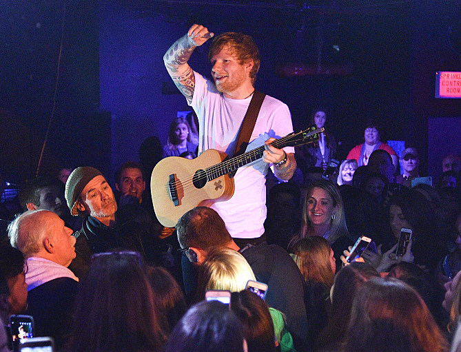 "Ed Sheeran Performs For SiriusXM's ""Secret Show"" Series At The Studio At Webster Hall; Performance To Air On SiriusXM Hits 1 And The Pulse Channels"