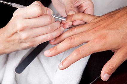 Masculine manicure