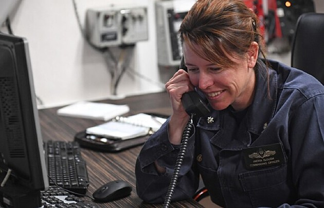 U.S. Navy Cmdr. Andria Slough, of Millville, NJ (Photo: Getty Images)