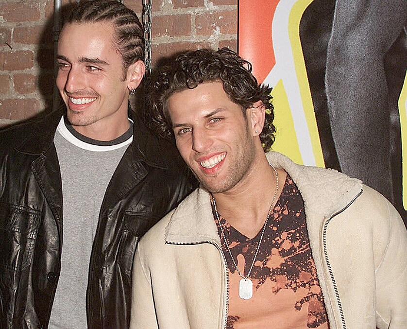 Devon Lima (left) and Brad Fischetti (right) of LFO. Photo by Nick Elgar/Getty Images